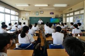 講話授業講師として参加致しました。