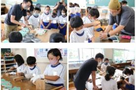三ケ日東小学校へ講師として訪問致しました。